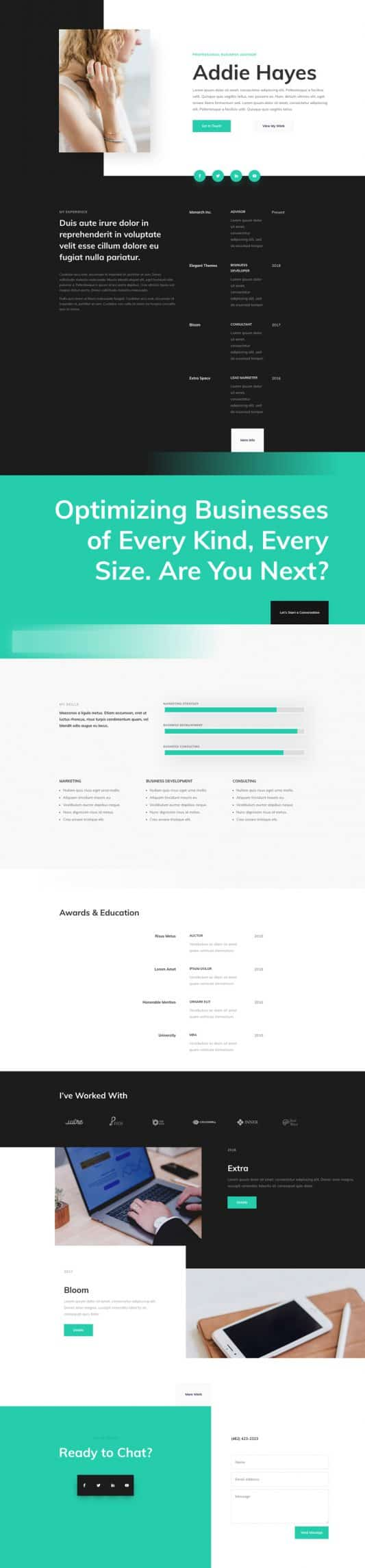 Professional CV Home Page Style 1