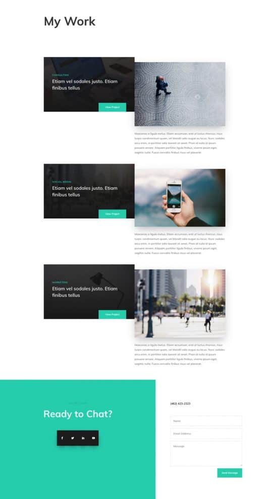 Professional CV Web Design 7
