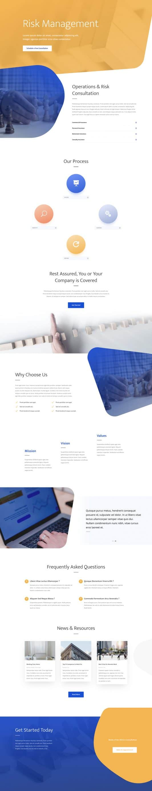 Risk Management Web Design 5