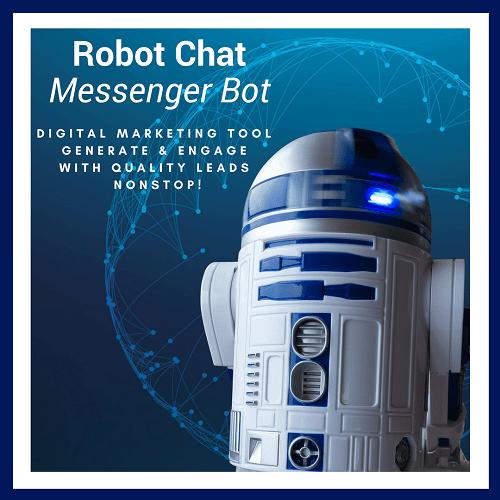 Robot Chat Messenger Bot Square Banner