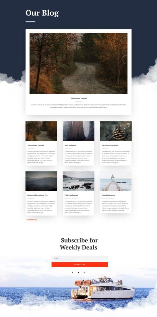 Sightseeing Web Design 2