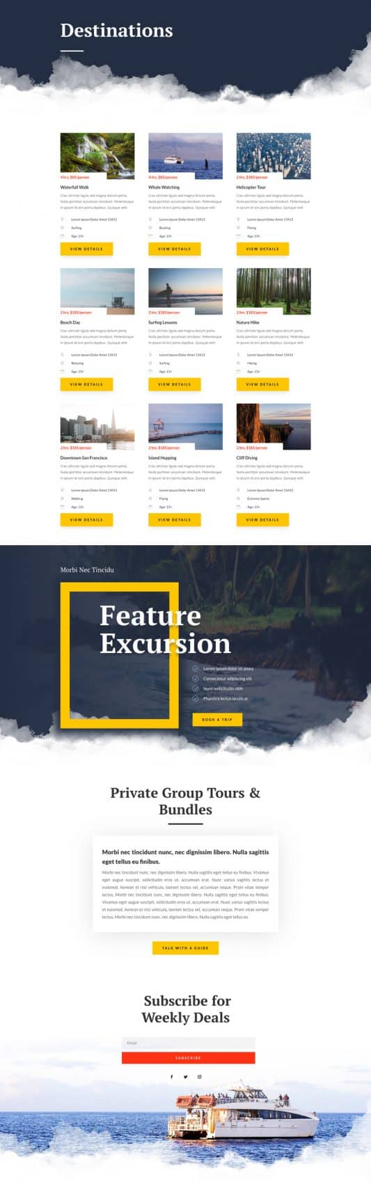 Sightseeing Web Design 5