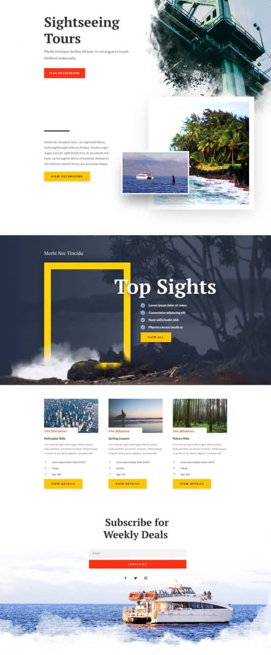 Sightseeing Home page Style 1