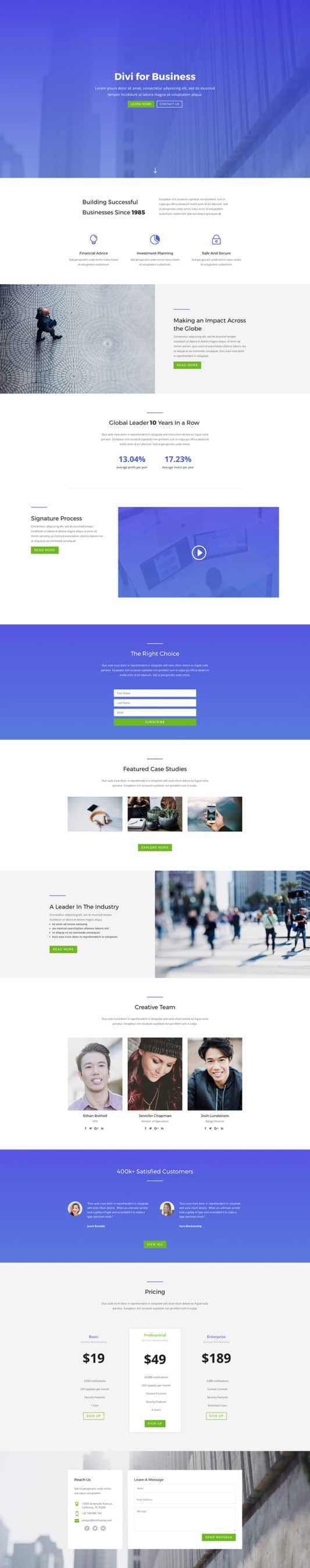 The Agency Page Style: Homepage Design 1