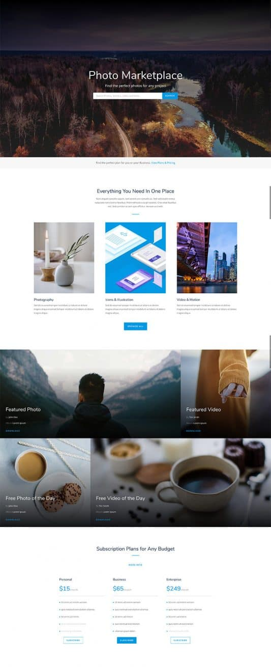 Photo Marketplace Web Design 4
