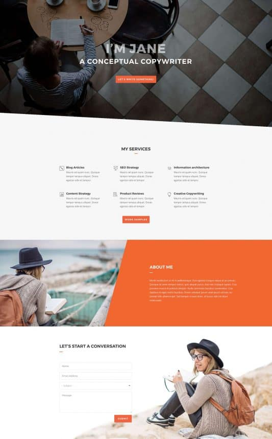 Copywriter Web Design 5