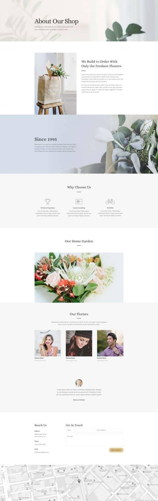 Florist Web Design 1