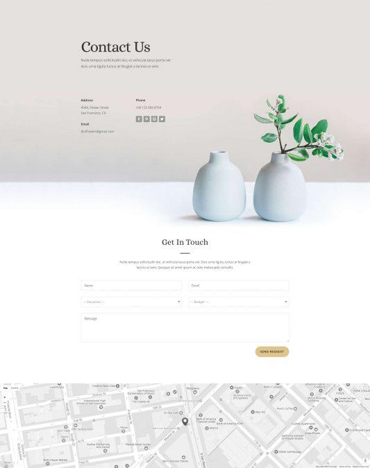 Florist Web Design 3