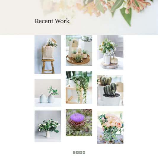 Florist Web Design 4