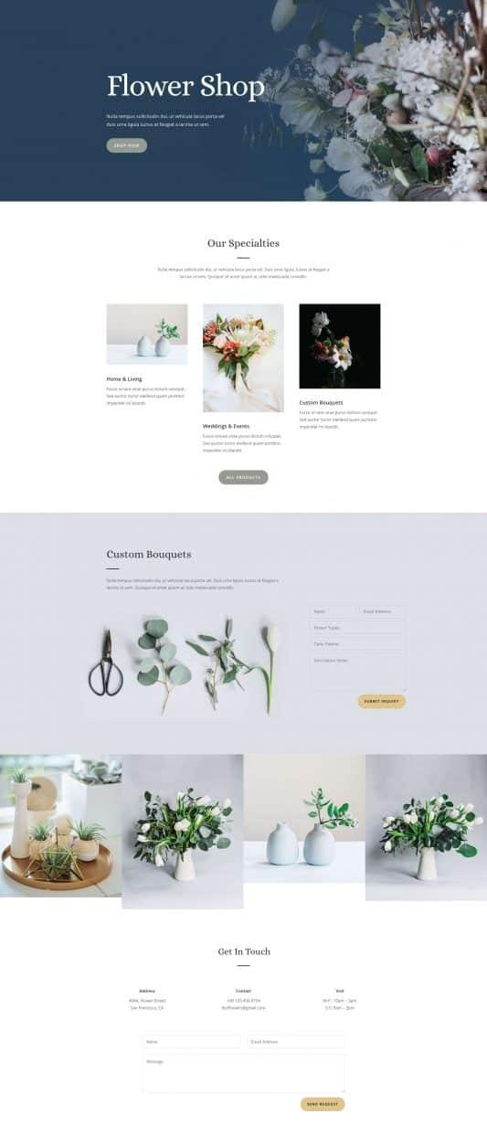 Florist Web Design 5