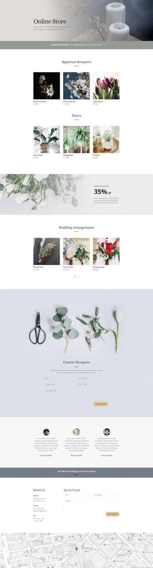 Florist Web Design 7