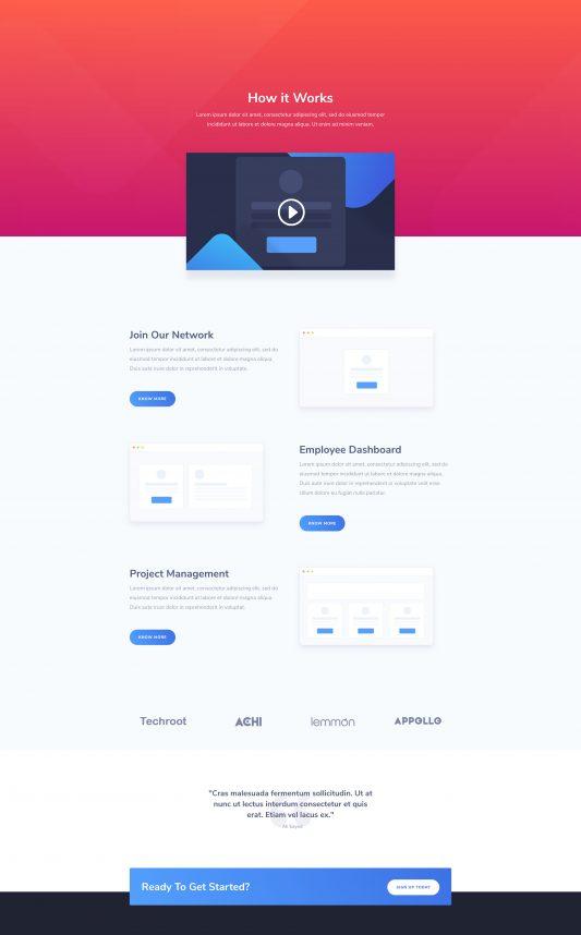 SaaS Company Web Design 1
