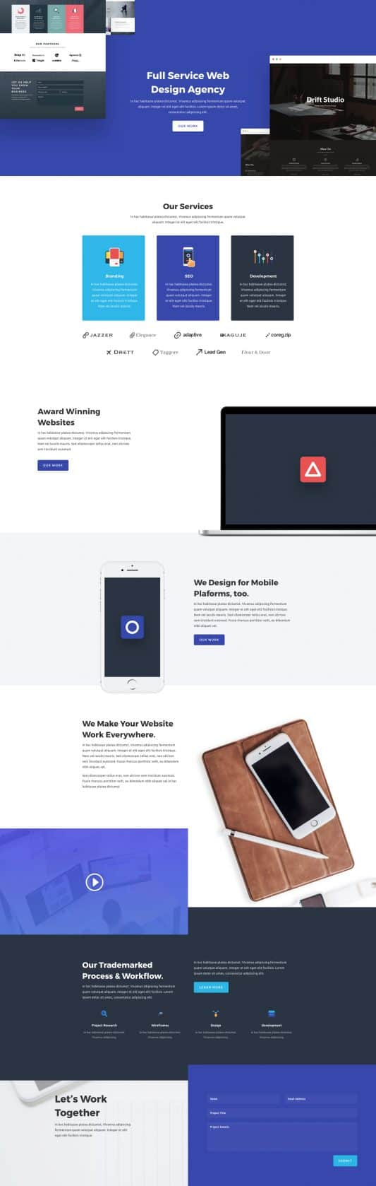 The Web Agency Page Style: Homepage Design 1
