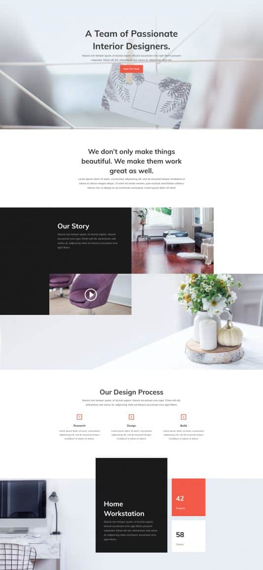 Interior Design Company Web Design 1