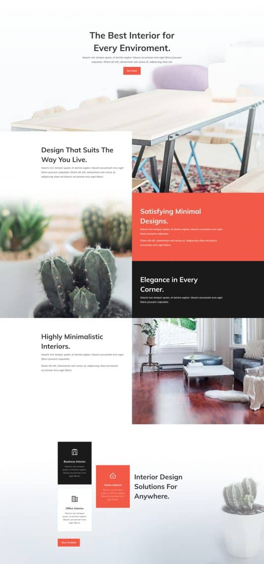 Interior Design Company Web Design 7