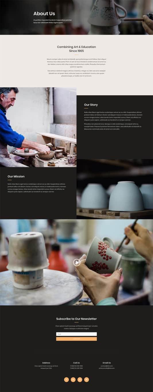 Pottery Studio Web Design 1