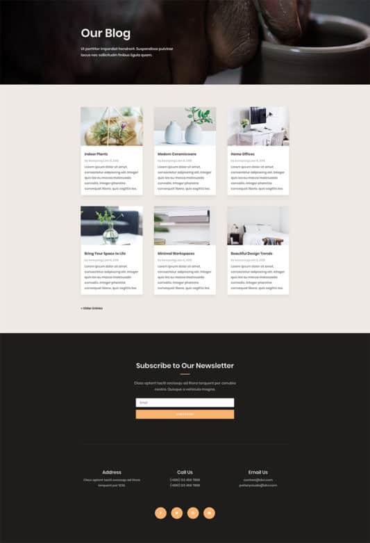 Pottery Studio Web Design 2