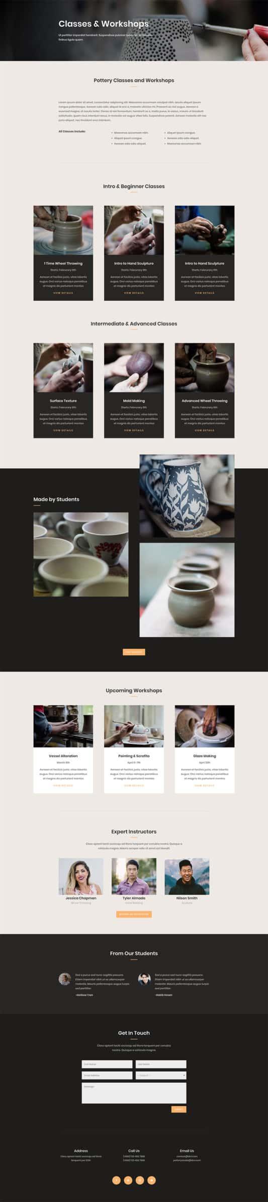 Pottery Studio Web Design 4