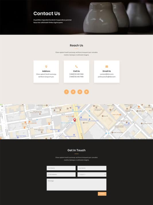 Pottery Studio Web Design 5