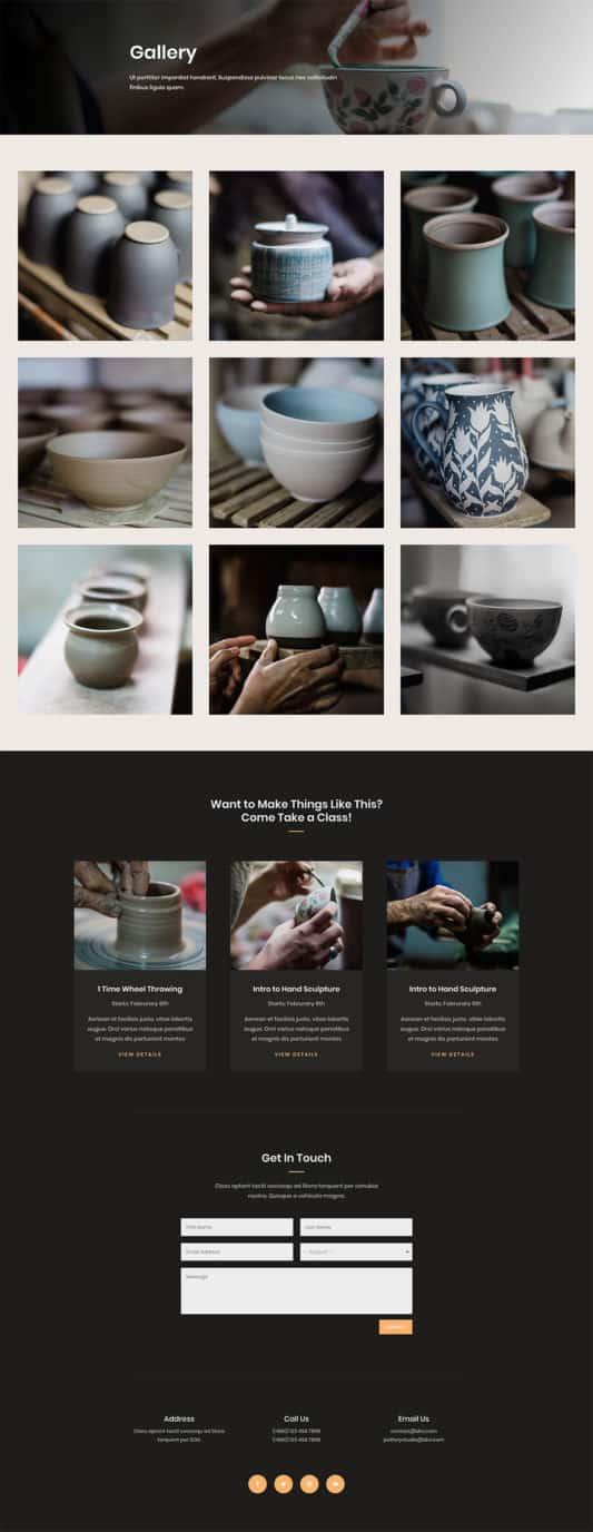 Pottery Studio Web Design 6