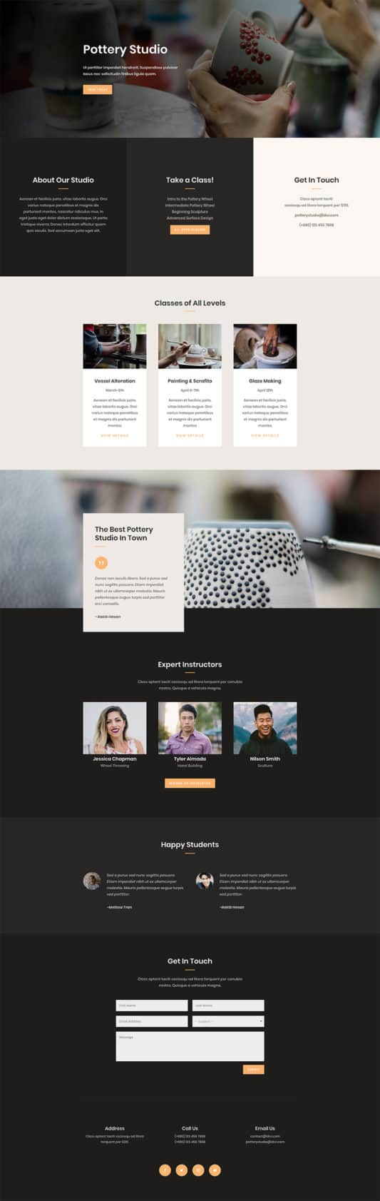 Pottery Studio Web Design 7