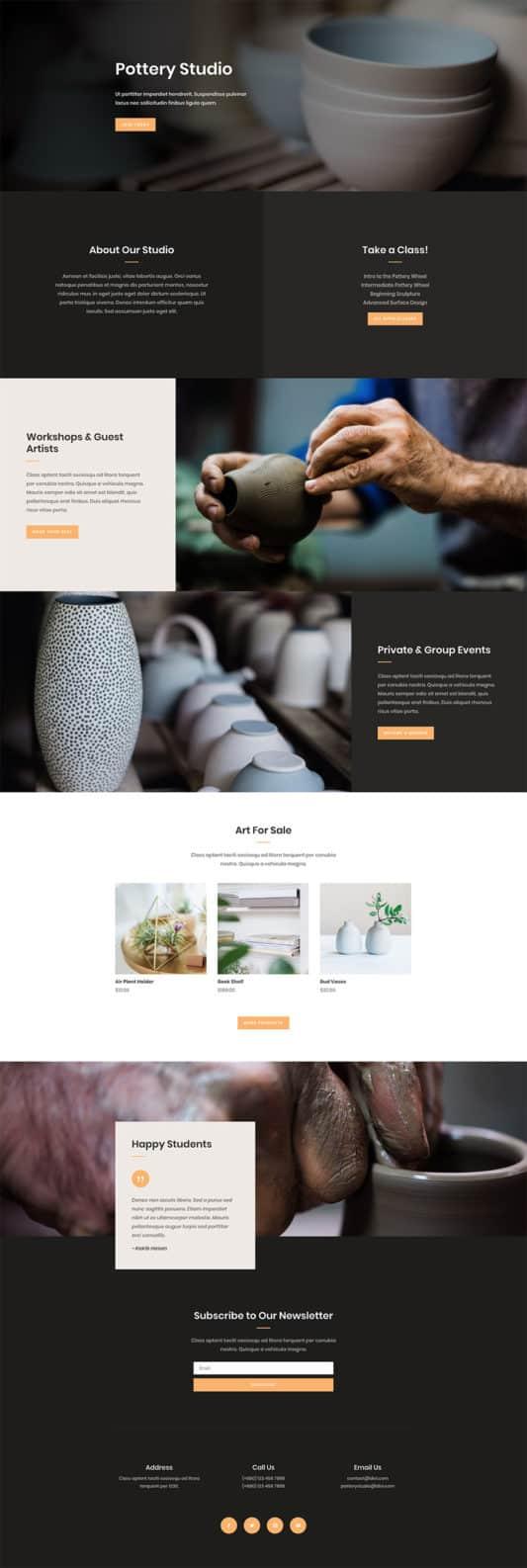 Pottery Studio Web Design 8