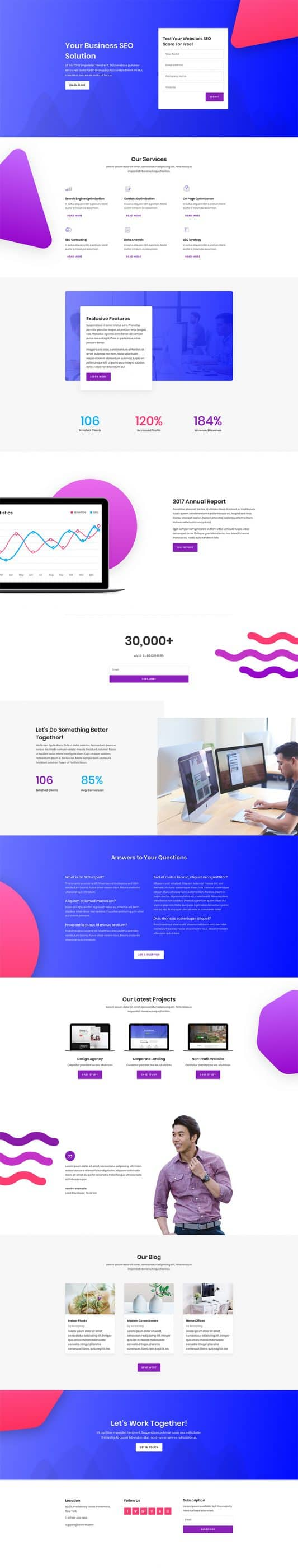 The SEO Agency Page Style: Homepage Design 1