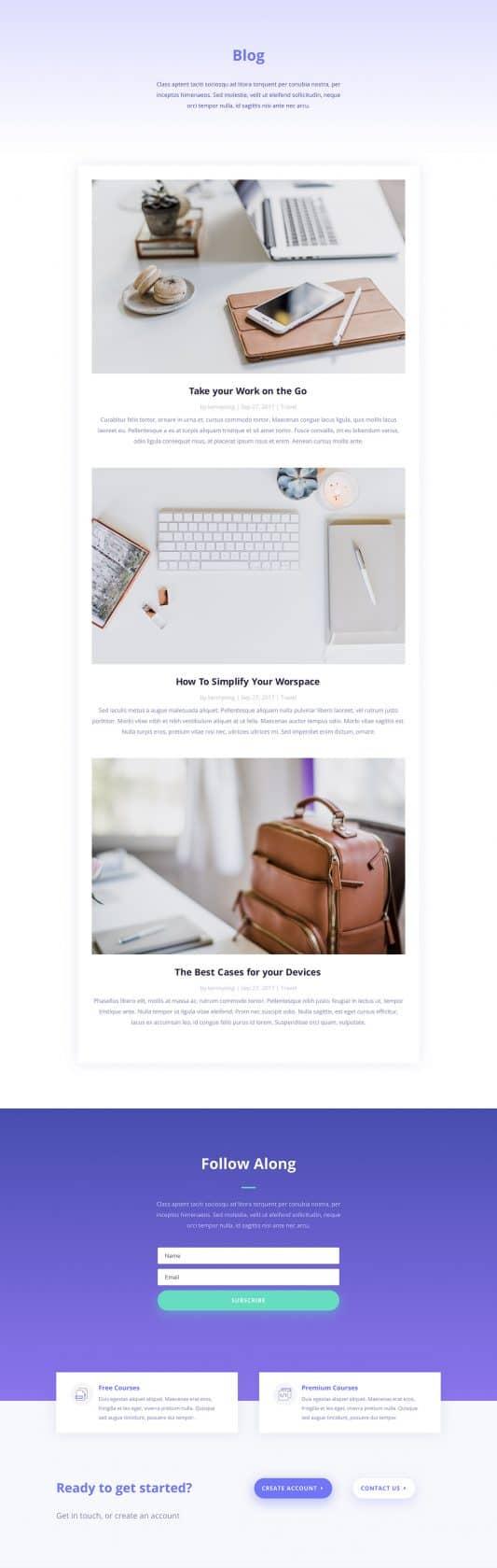 Learning Management (LMS) Web Design 2