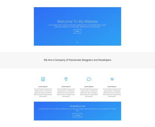 The Simple Page Style: Homepage Design 1