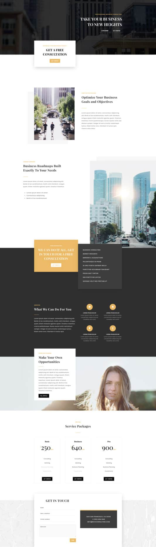 The Business Consultant Page Style: Homepage Design 1