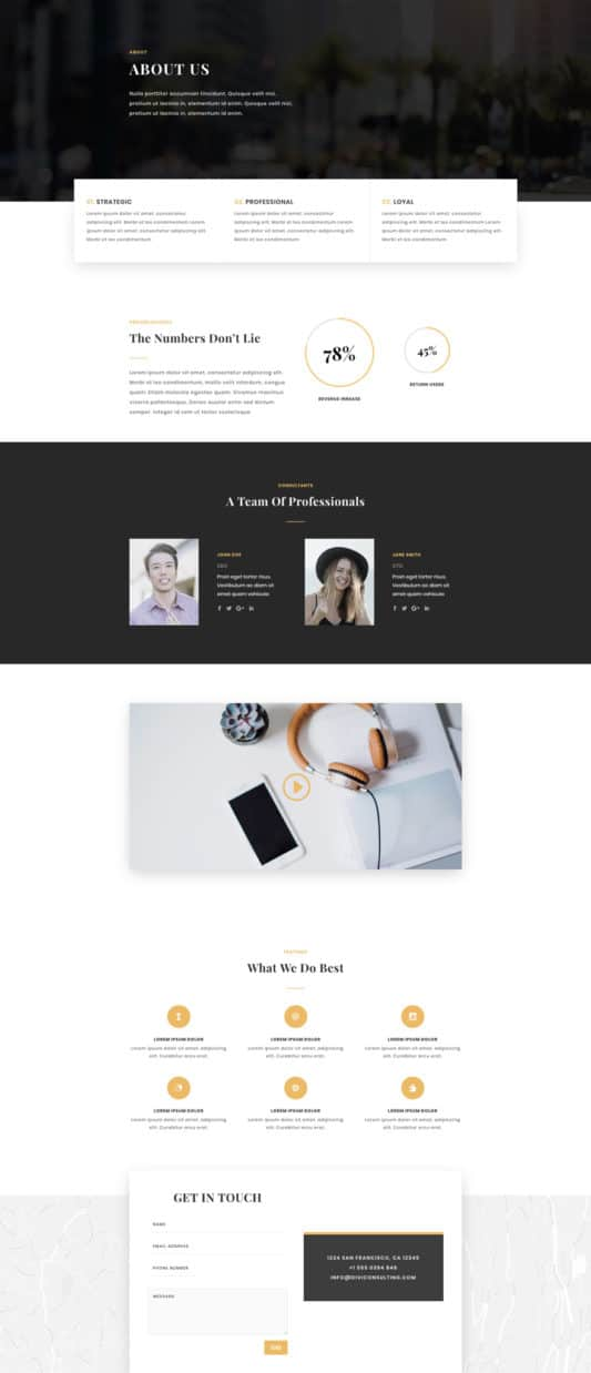Business Consultant Web Design 1
