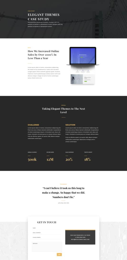 Business Consultant Web Design 3