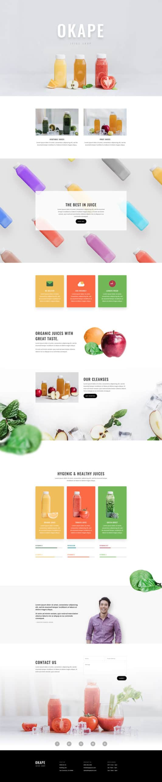 The Juice Shop Page Style: Homepage Design 1
