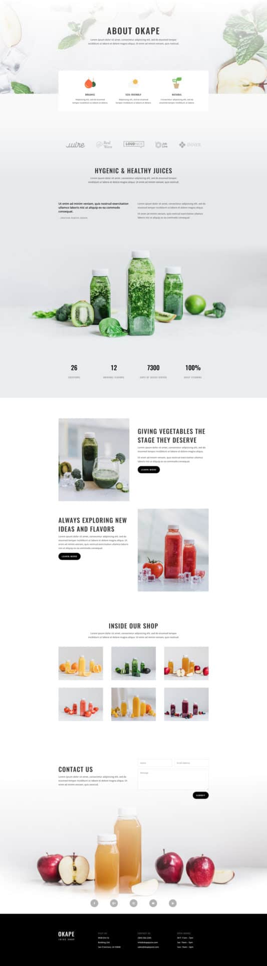 Juice Shop Web Design 1
