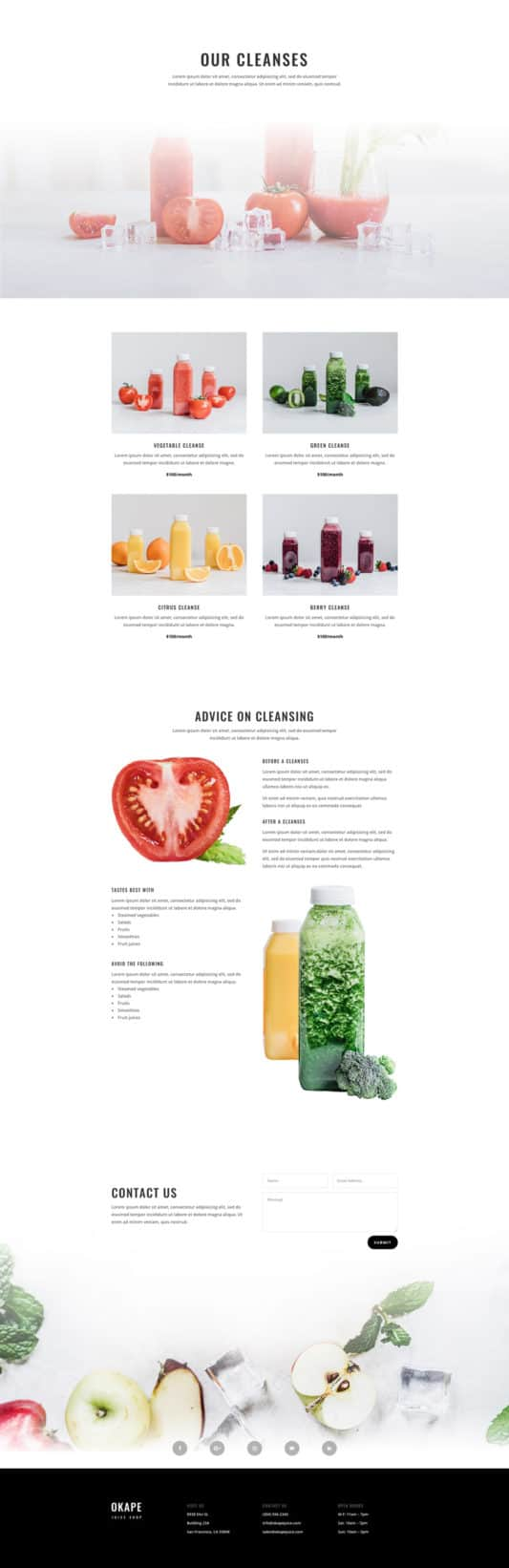 Juice Shop Web Design 2