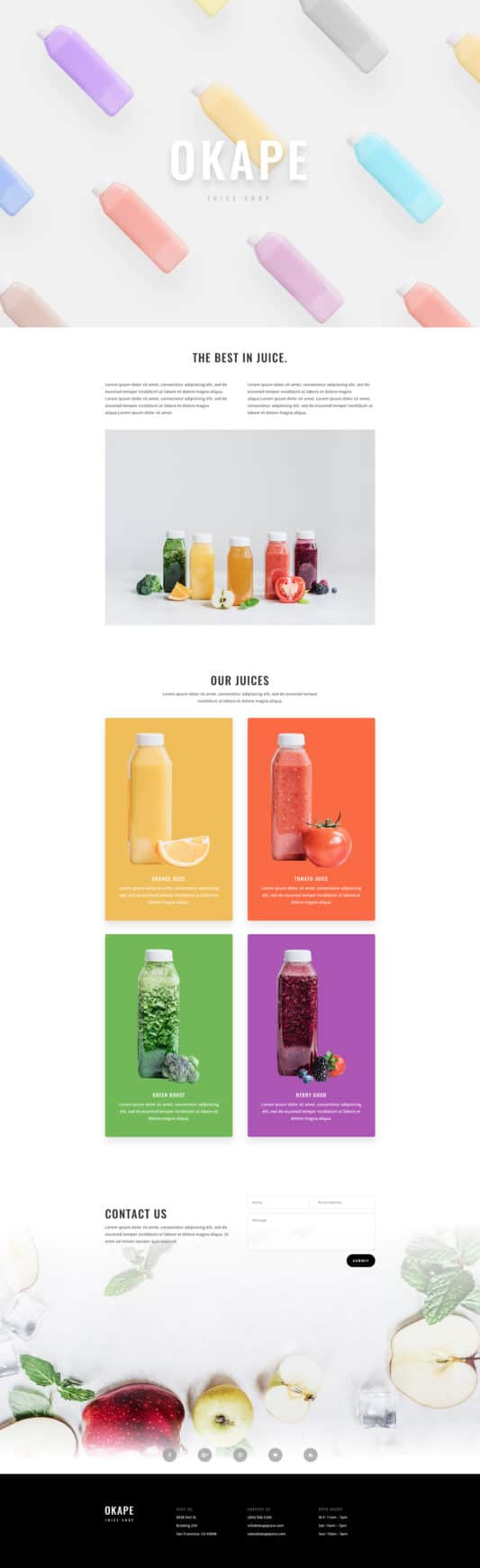 Juice Shop Web Design 4