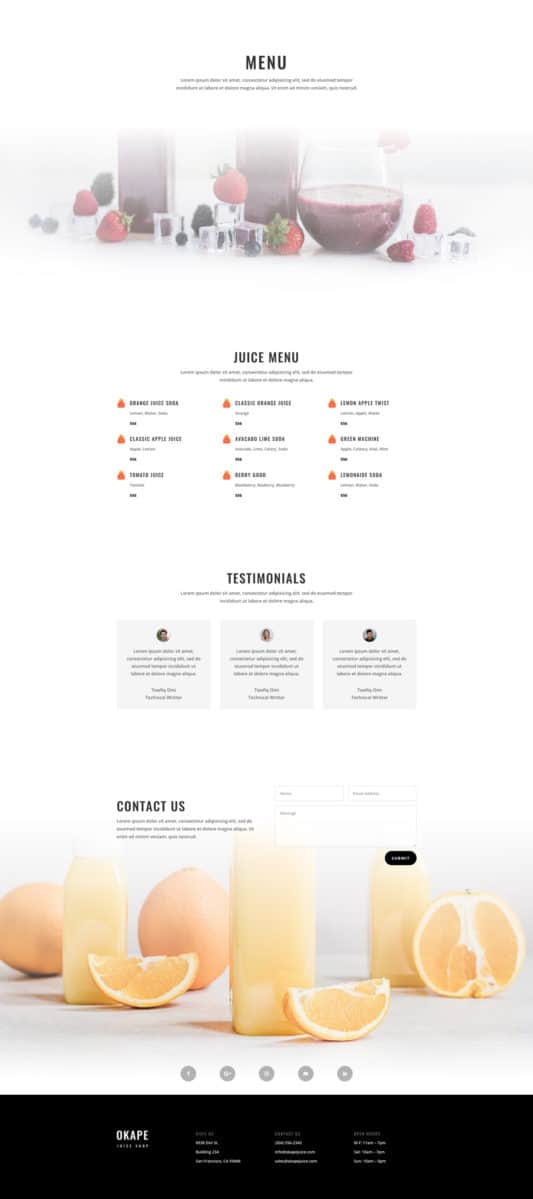Juice Shop Web Design 6