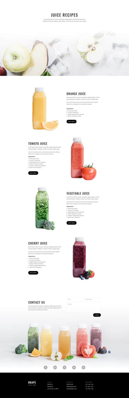 Juice Shop Web Design 7