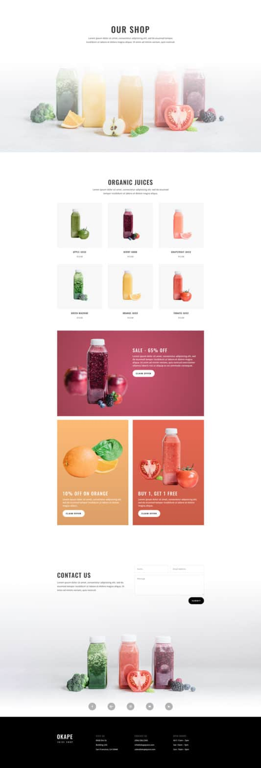Juice Shop Web Design 8