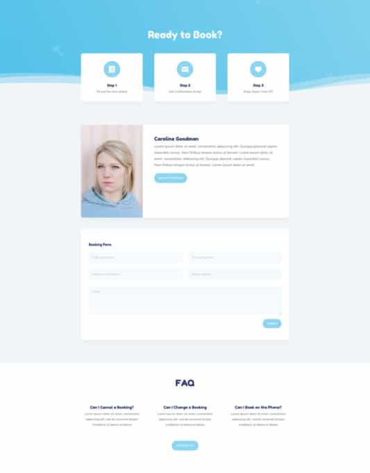 Babysitter Web Design 2