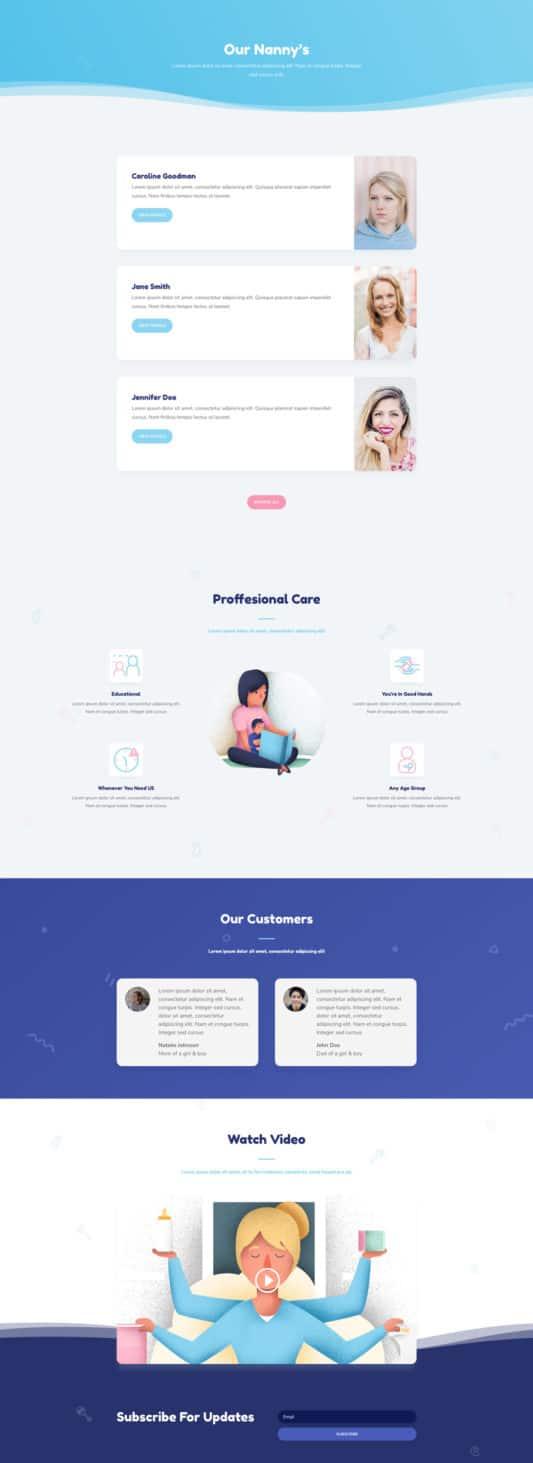 Babysitter Web Design 8