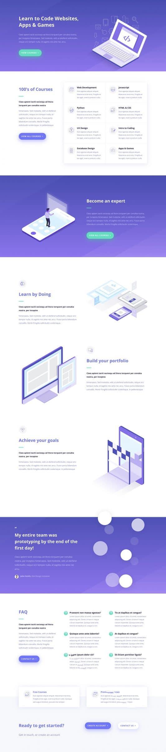 Learning Management (LMS) Web Design 7