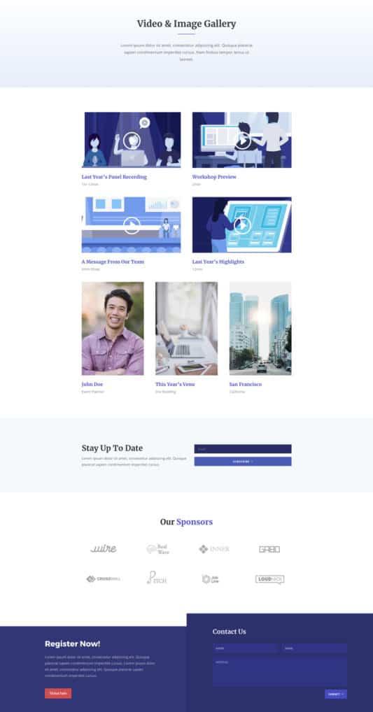 Design Conference Web Design 3