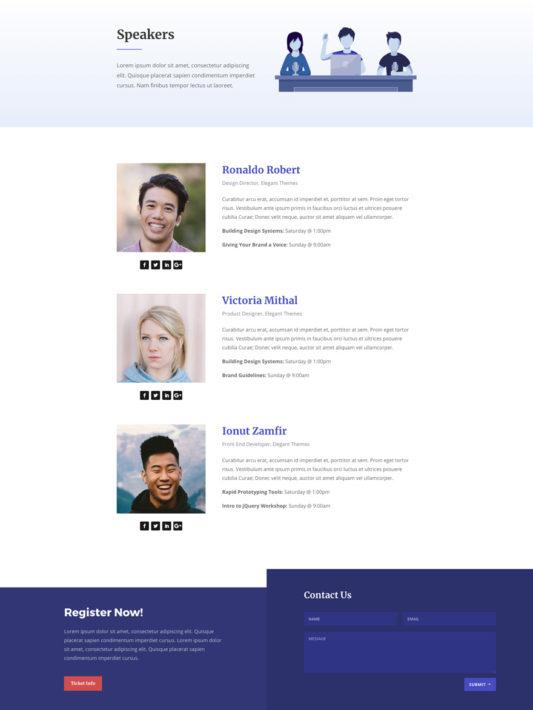 Design Conference Web Design 8
