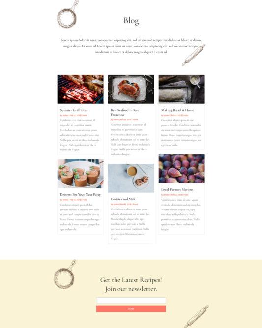 Food Recipes Web Design 2