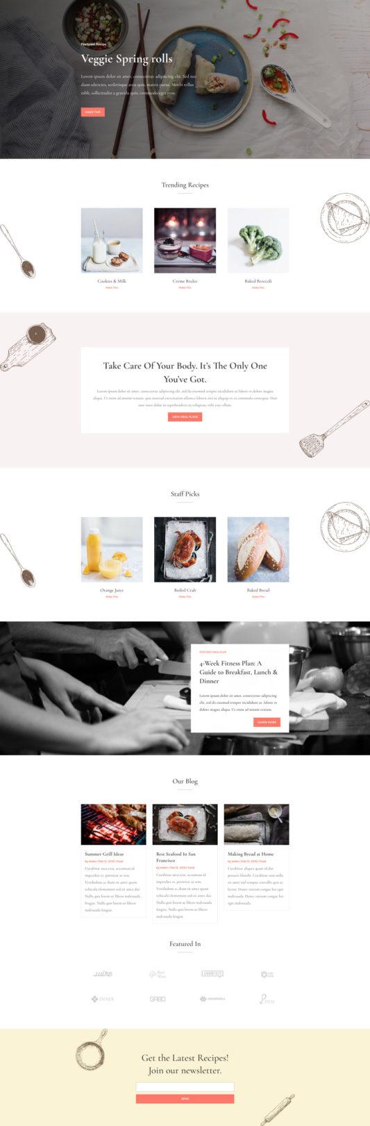 Food Recipes Web Design 5