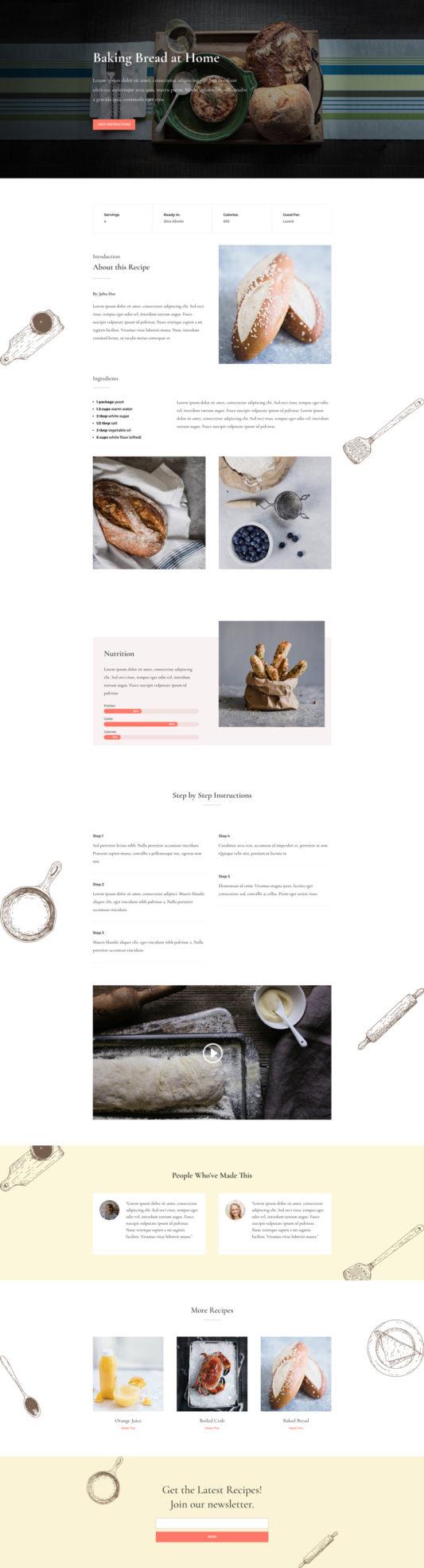 Food Recipes Web Design 6