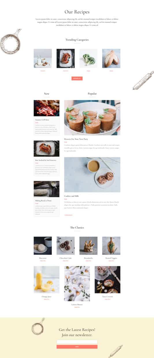 Food Recipes Web Design 7