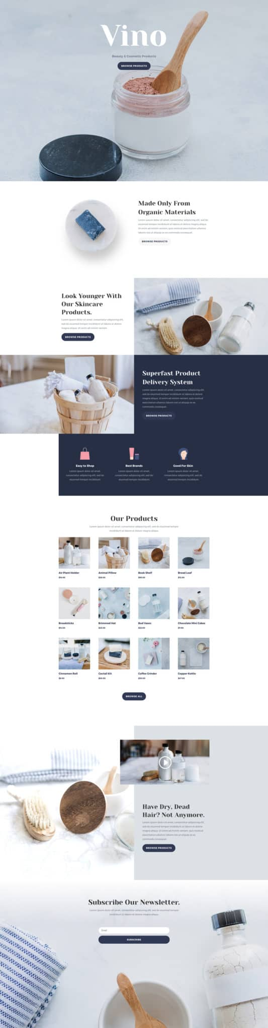 The Cosmetics Shop Page Style: Homepage Design 1