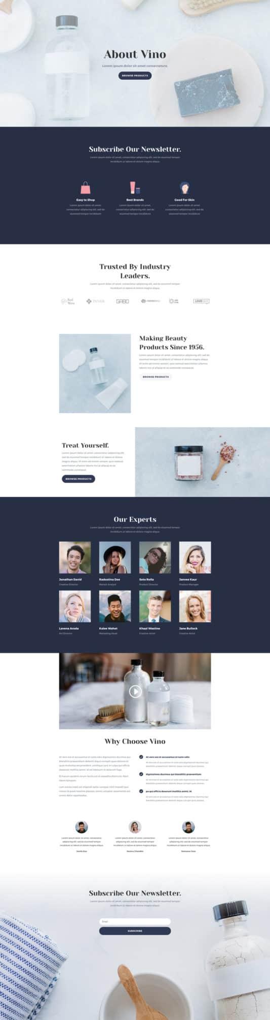 Cosmetics Shop Web Design 1